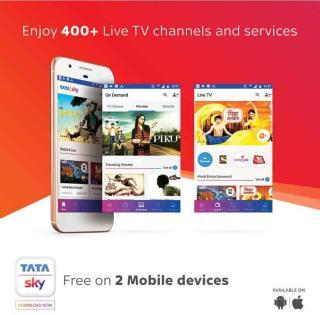 Tata Sky HD Box with One Month Marathi Hindi Family Kids Sports Pack